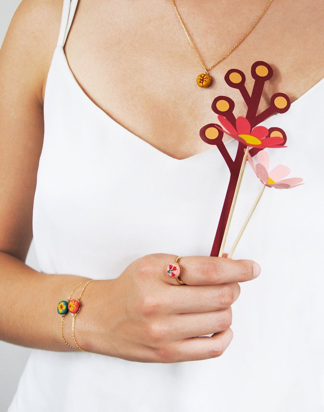 Embroidered jewelry by Les Amants de Minuit