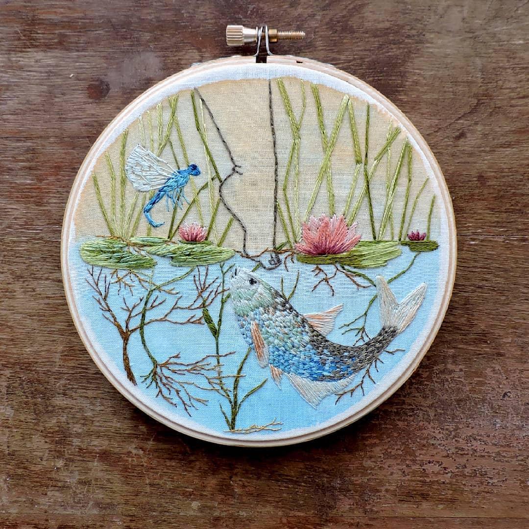 Embroidery art by Claudia González