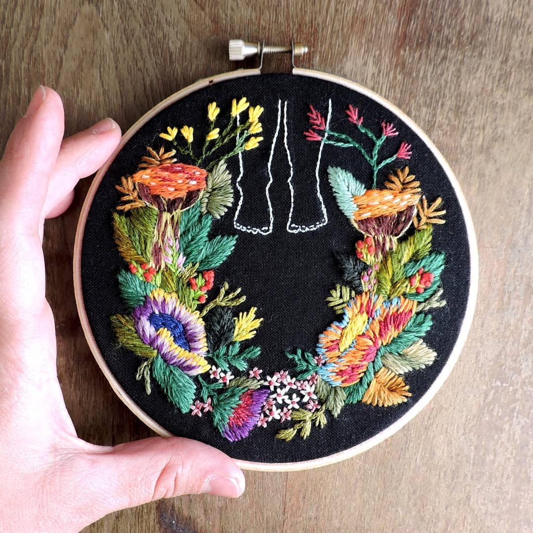 Take a Walk in Through These Vibrant Floral Embroideries by Claudia González