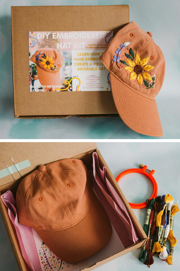 How to embroider a hat by Lexi Mire