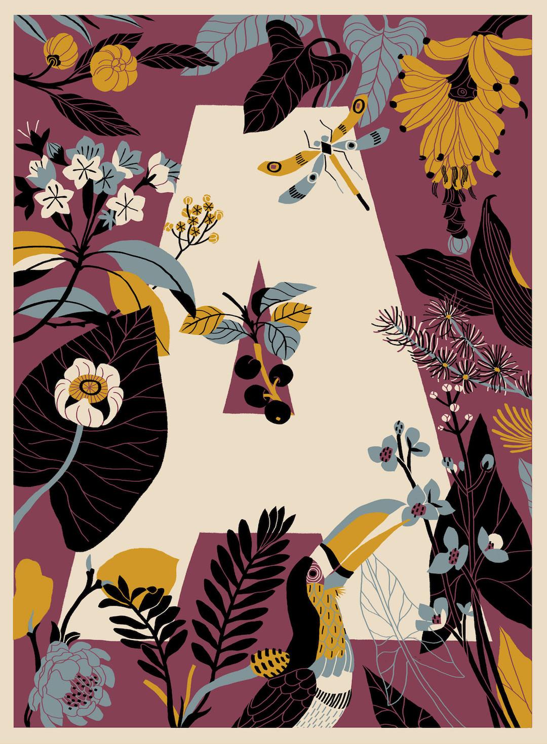 Alphabet illustration by André Ducci