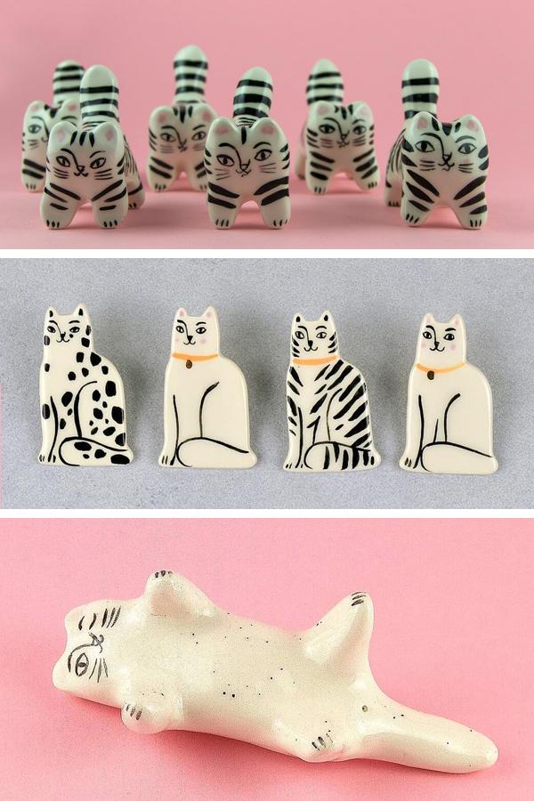 Ceramic cats by Livia Coloji