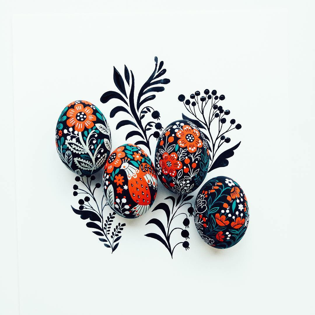 Dinara Mirtalipova's Folk-Inspired Painted Eggs are Out of an Easter Dream