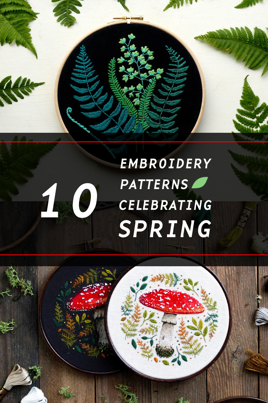 Hand embroidery patterns - perfect for spring crafts