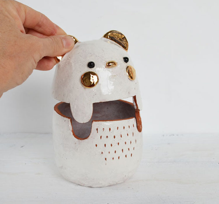 Animal vessels by Susan Simonini