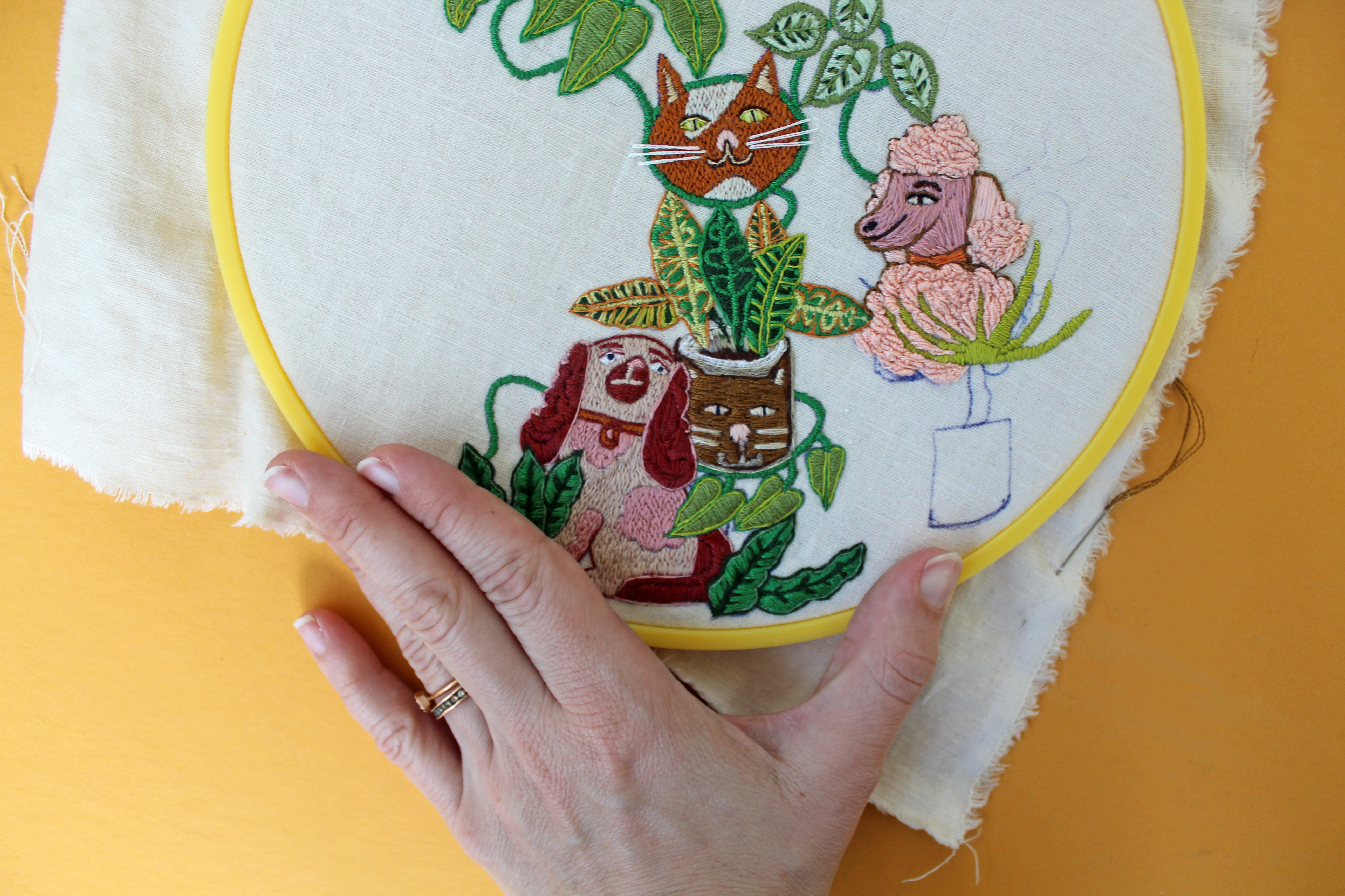 1 Year of Stitches hand embroidery by Sara Barnes