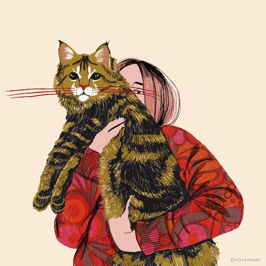 Cat illustrations by Levy's Friends