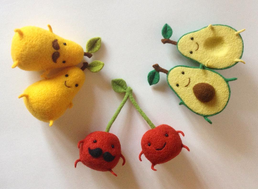 Thank A Foodie For Being A Pal With These Needle Felted
