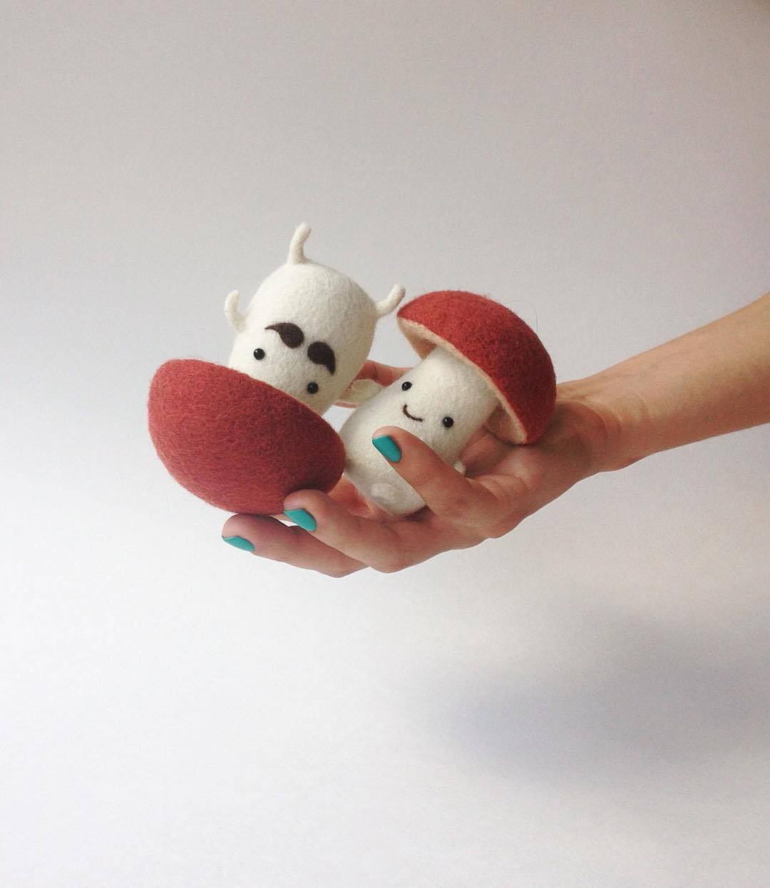 Needle felted foods by Manooni