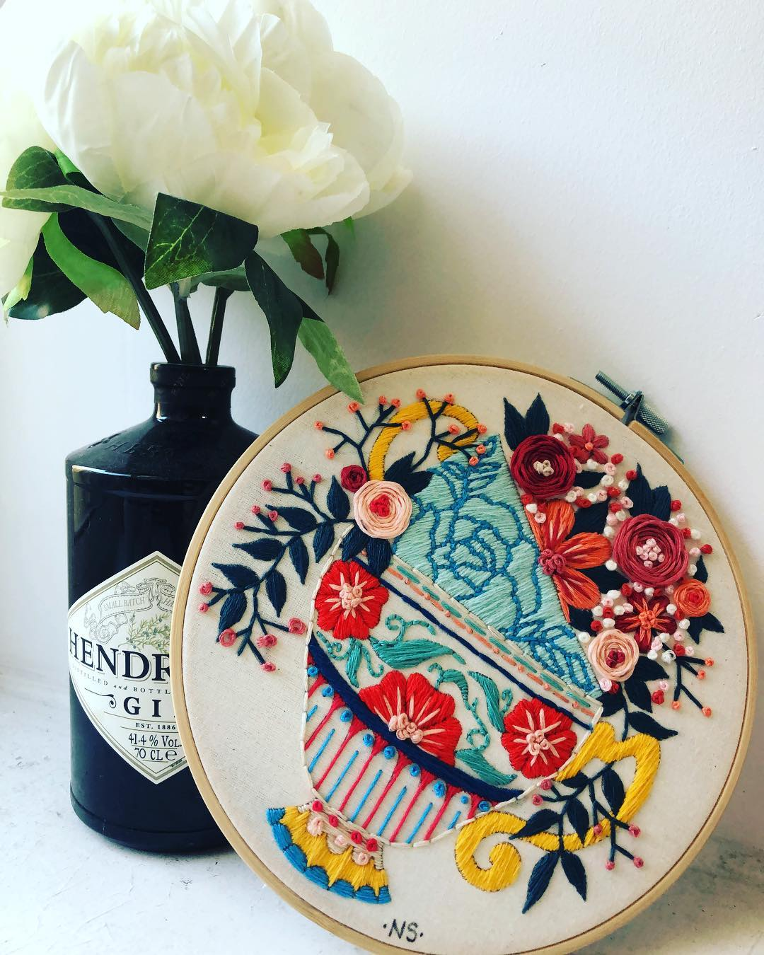 Embroidery hoop art by Natalie Sedgewick