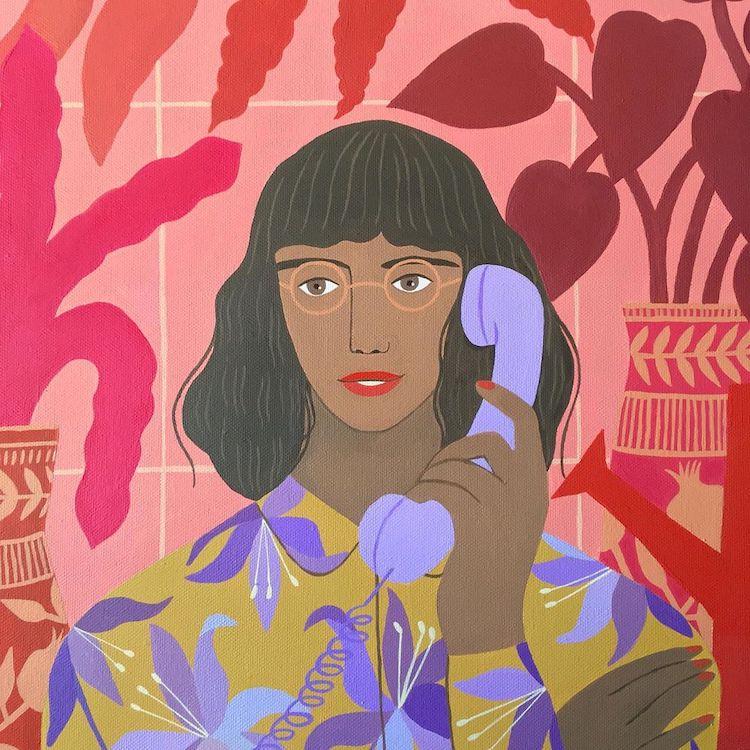 Illustrated ladies by Carine Arnakis