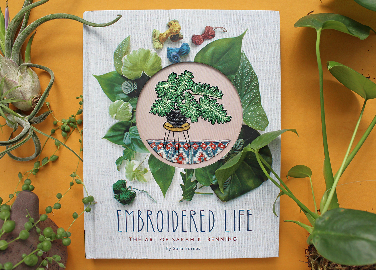 Embroidered Book, an embroidery book about Sarah K. Benning