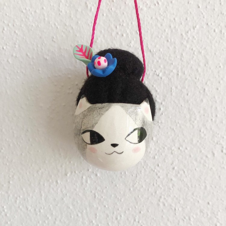 Pincushion necklaces by Erin Paisley