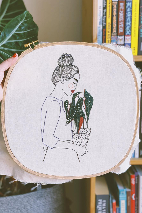 Hoop art by Giselle Quinto
