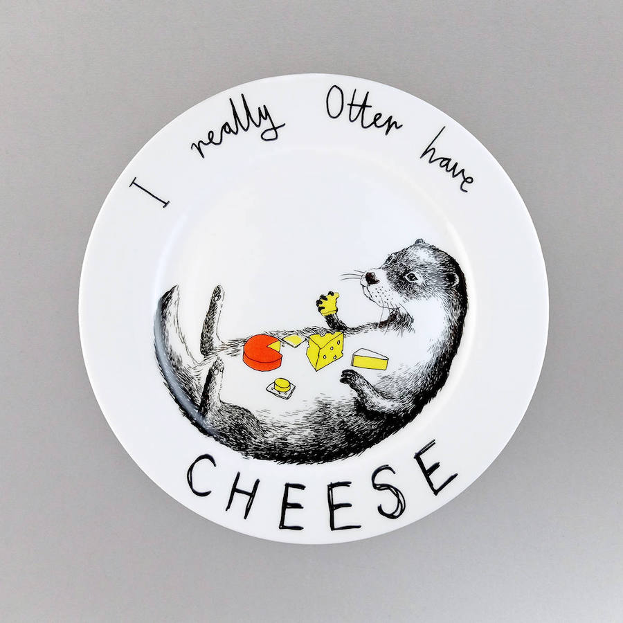 Funny illustrated plates