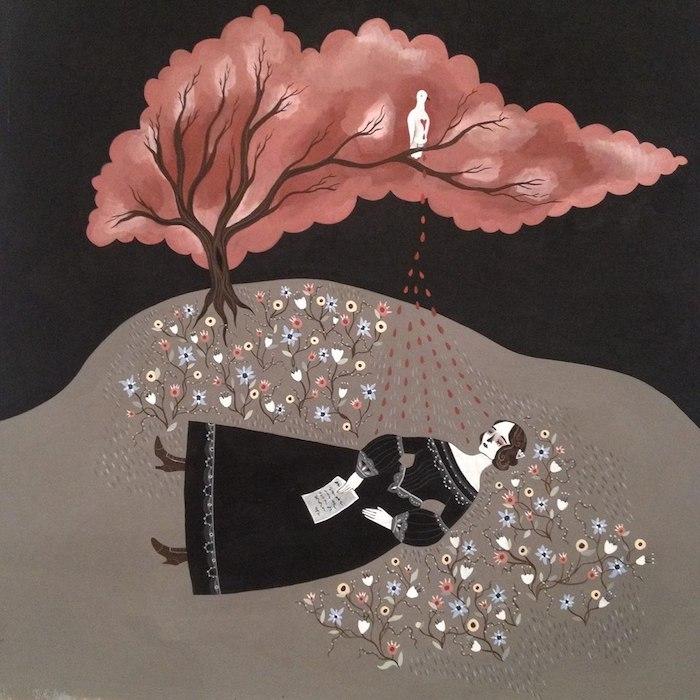 Murder ballad illustration by Katy Horan