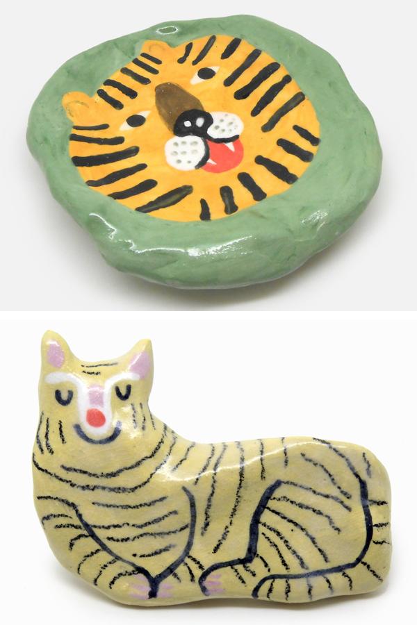 Ceramic animals by Min Pin