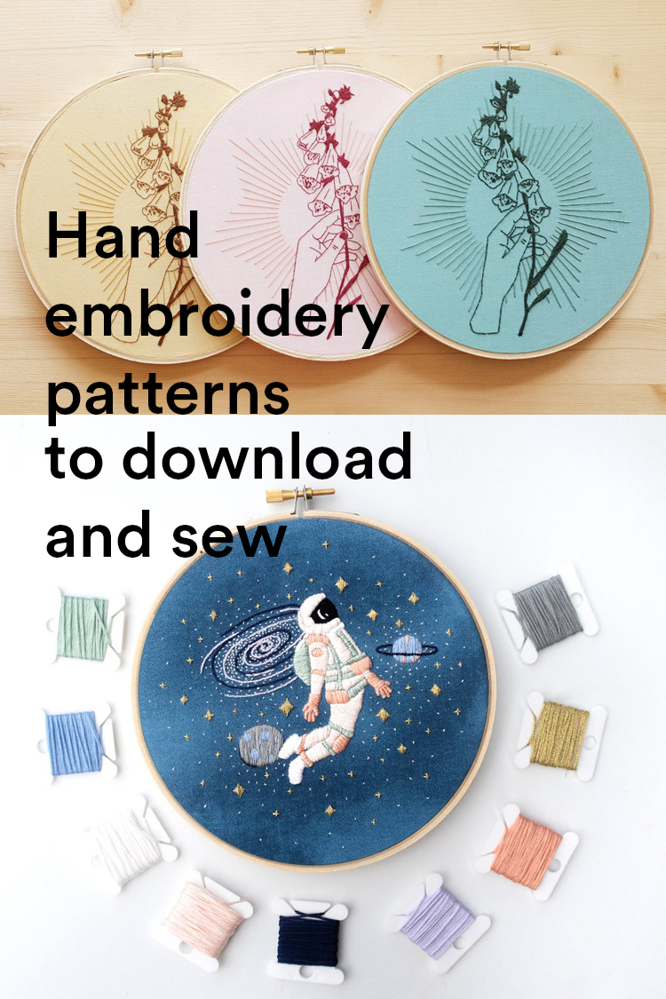 25 Modern Embroidery Patterns Ready for You to Download and Sew