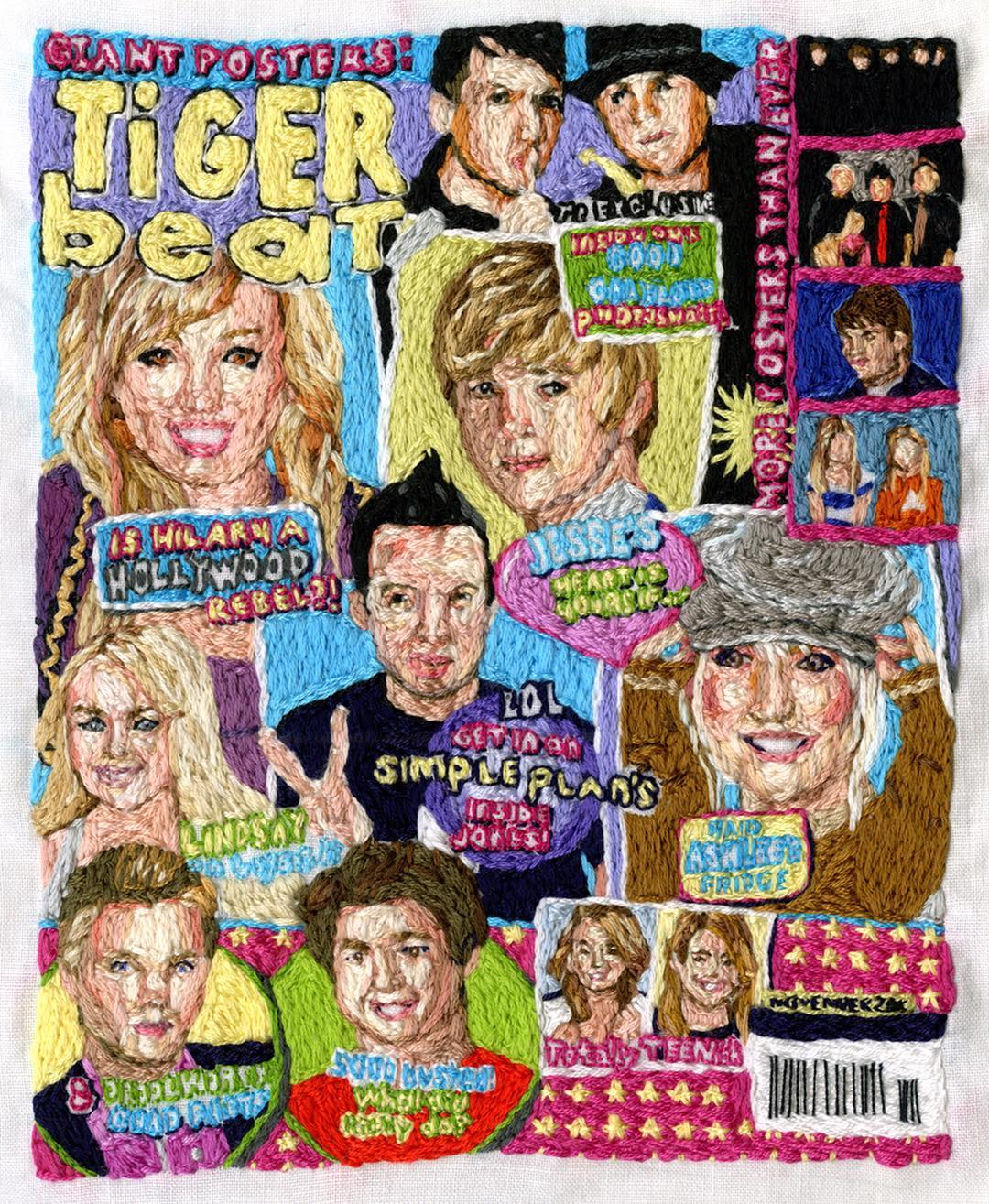 Embroidery art of Tiger Beat from the mid 200s
