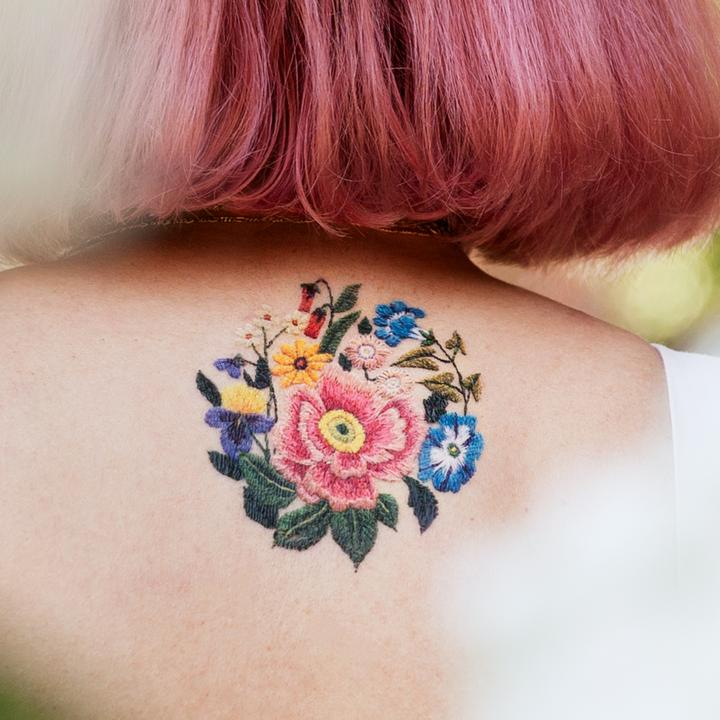 Skin Stitch Tattoos: Embroidery Tattoos Look Like Colorful Stitches In Your