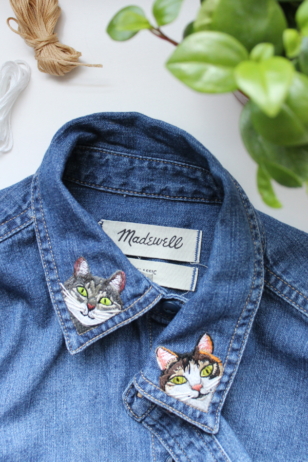 Custom embroidery // cat embroidery