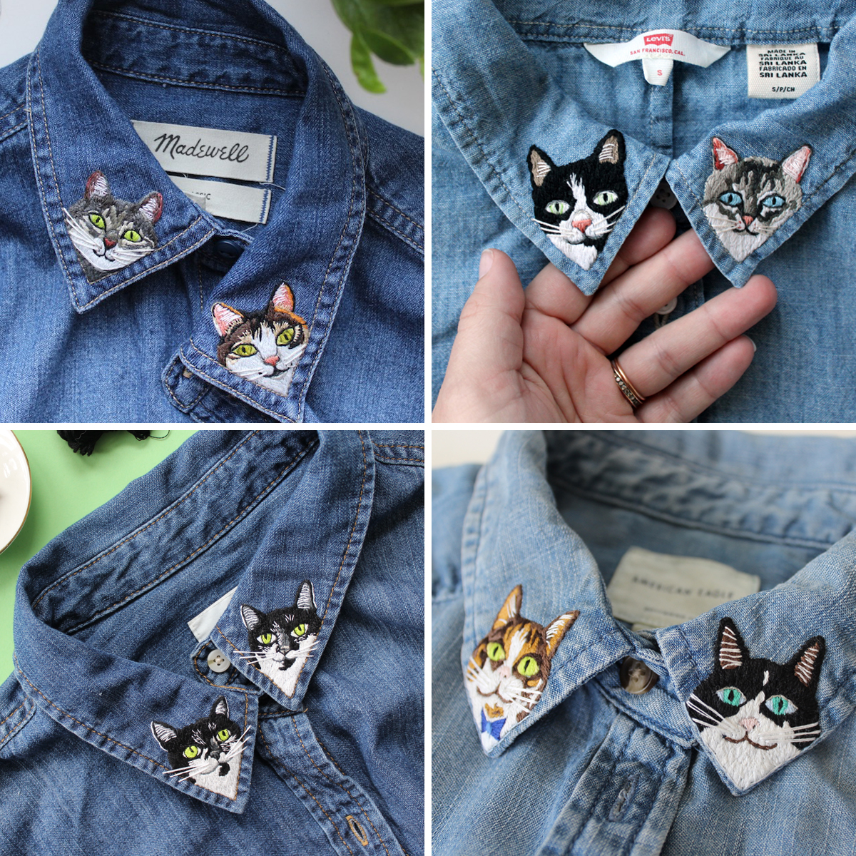 Custom Embroidered Shirt Collars Tell the World How Cool Your Pets Are (Spots Now Open)