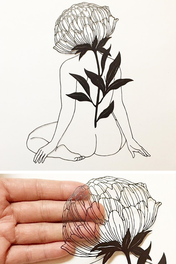 Cut paper art by Kanako Abe