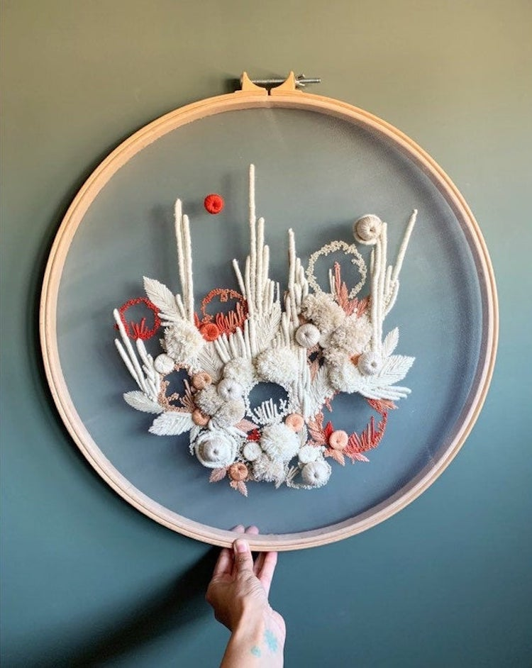 Hand embroidery by Helen Wilde