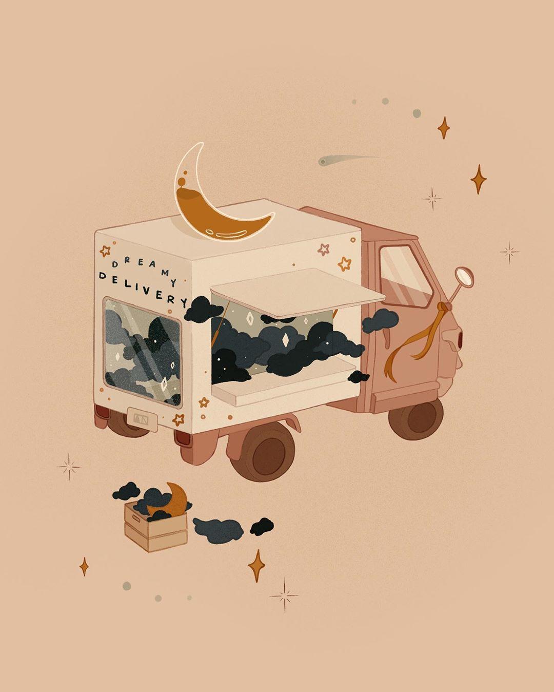 Dreamlike illustration by Angie Nguyen