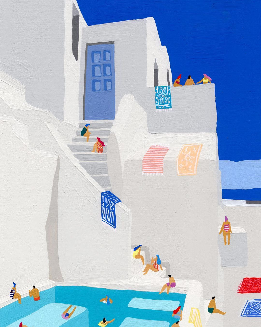 These Painted Sun-Soaked Scenes Will Make You Want to Pack a Bag (Like, Right Now)