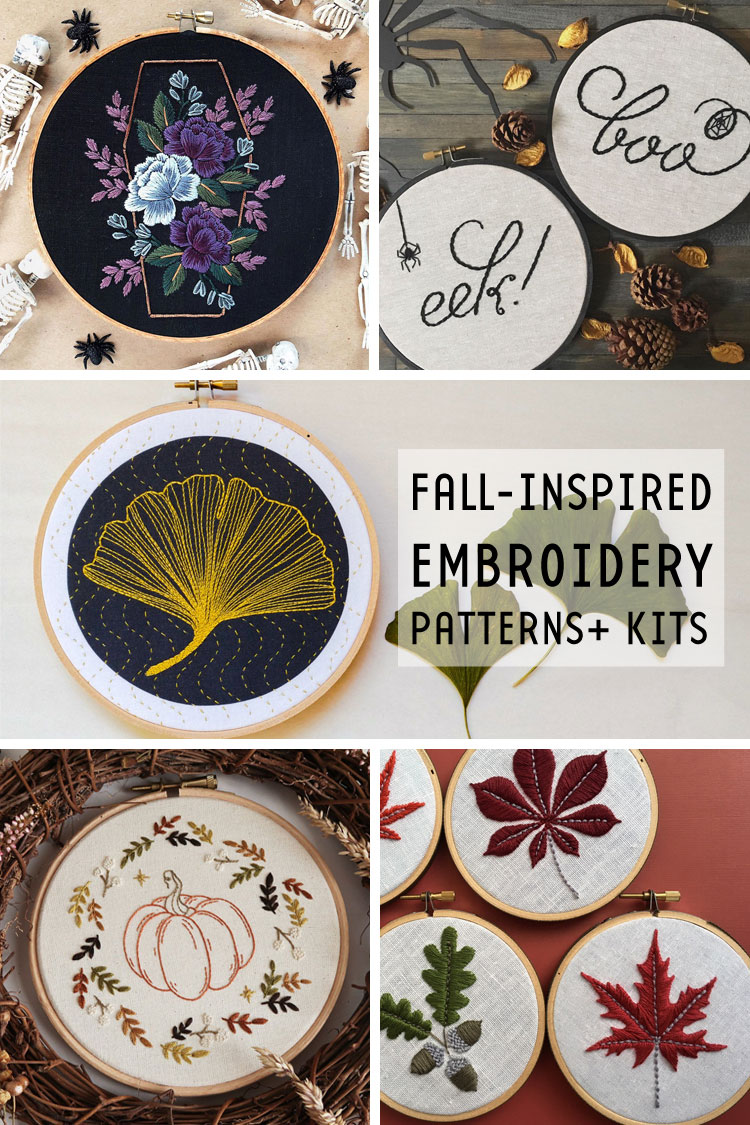 21 Fall-Inspired Embroidery Patterns and Kits to Get You into the Autumnal Spirit