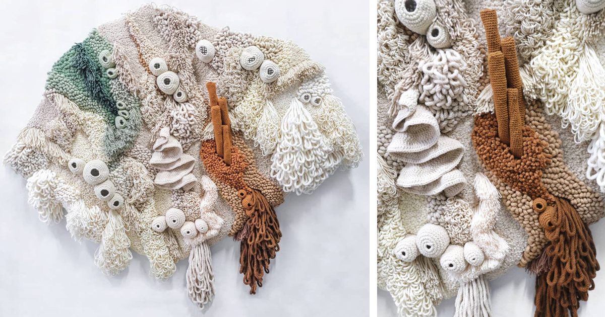 Recycled Textiles Make Ocean Tapestry By Vanessa Barrag 227 O