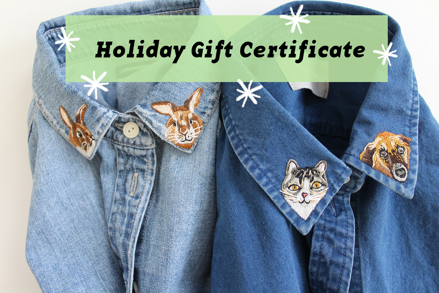 Looking for a Personalized Holiday Gift? Give Someone an Embroidered 'Pet Collar' Shirt