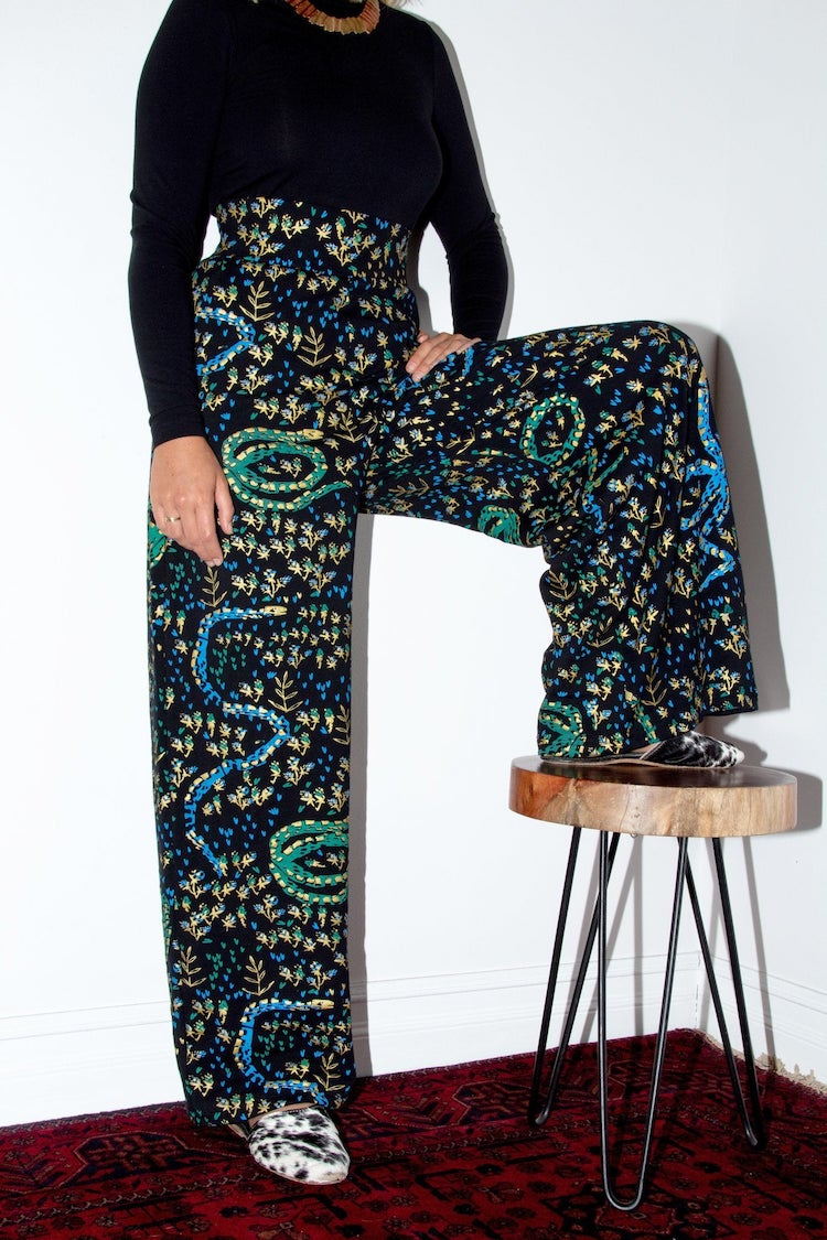 Wide-leg printed pants by Thief & Bandit