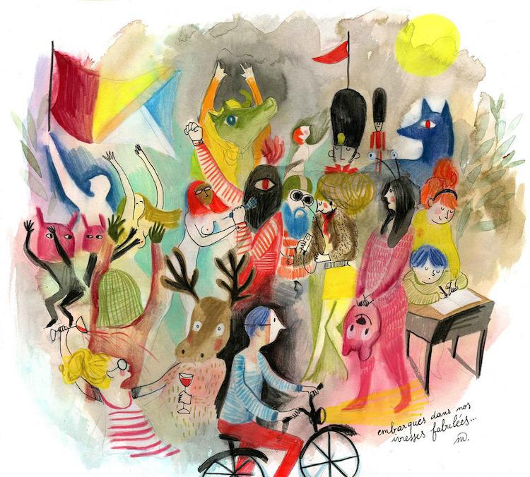 Illustration art by Clemence Monnet