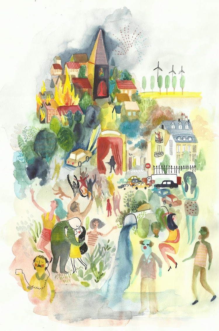 Dreamy illustration by Ethereal illustration by Clemence Monnet