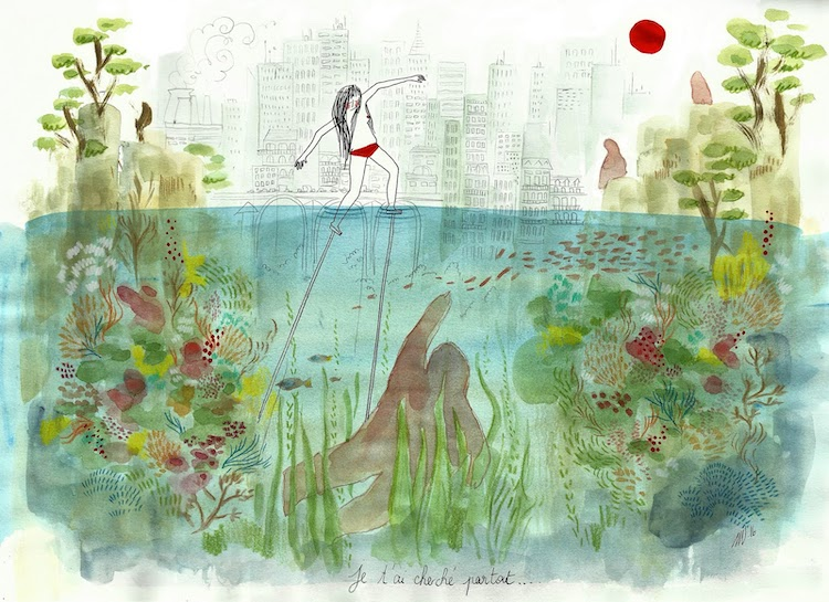 Dreamlike art by Ethereal illustration by Clemence Monnet