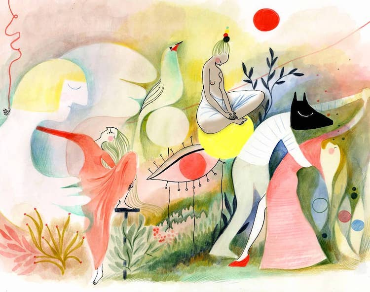 Ethereal illustration by Clemence Monnet