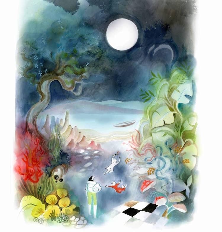 Dreamlike art by Clemence Monnet
