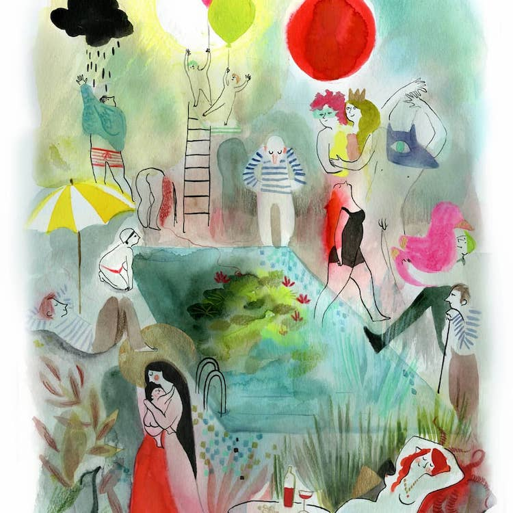 Dreamlike art illustration by Clemence Monnet