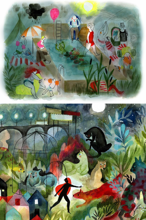 Dreamlike illustration by Clemence Monnet