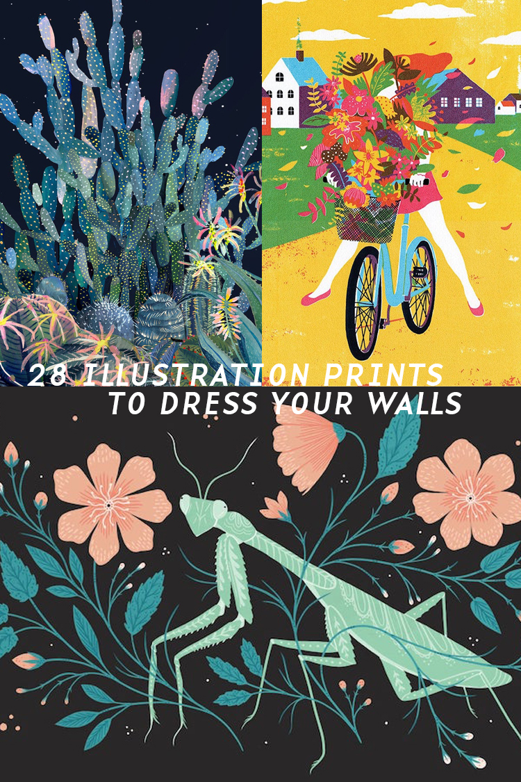 Does Your Room Need a Makeover? These 28 Illustration Prints Will Dress up Your Bare Walls
