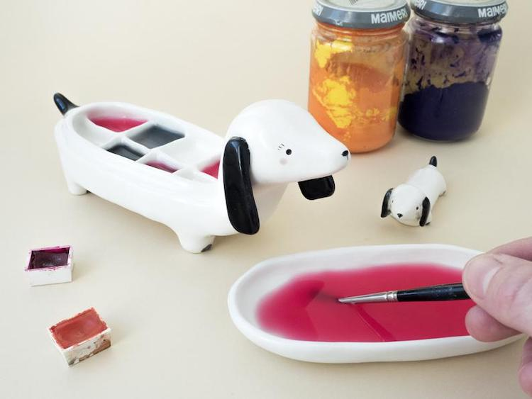 Ceramic Palettes Shaped Like Animals are the Cutest Way to Conceal Wet Paint