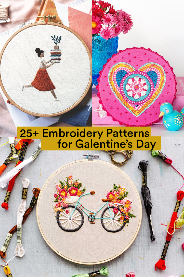 Galentine's Day Embroidery Patterns