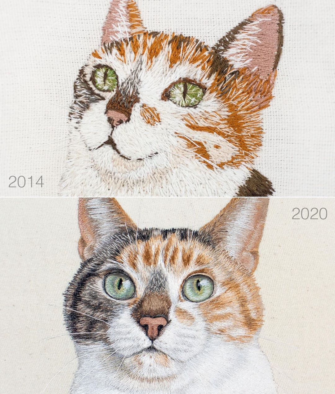 Embroidery art then and now