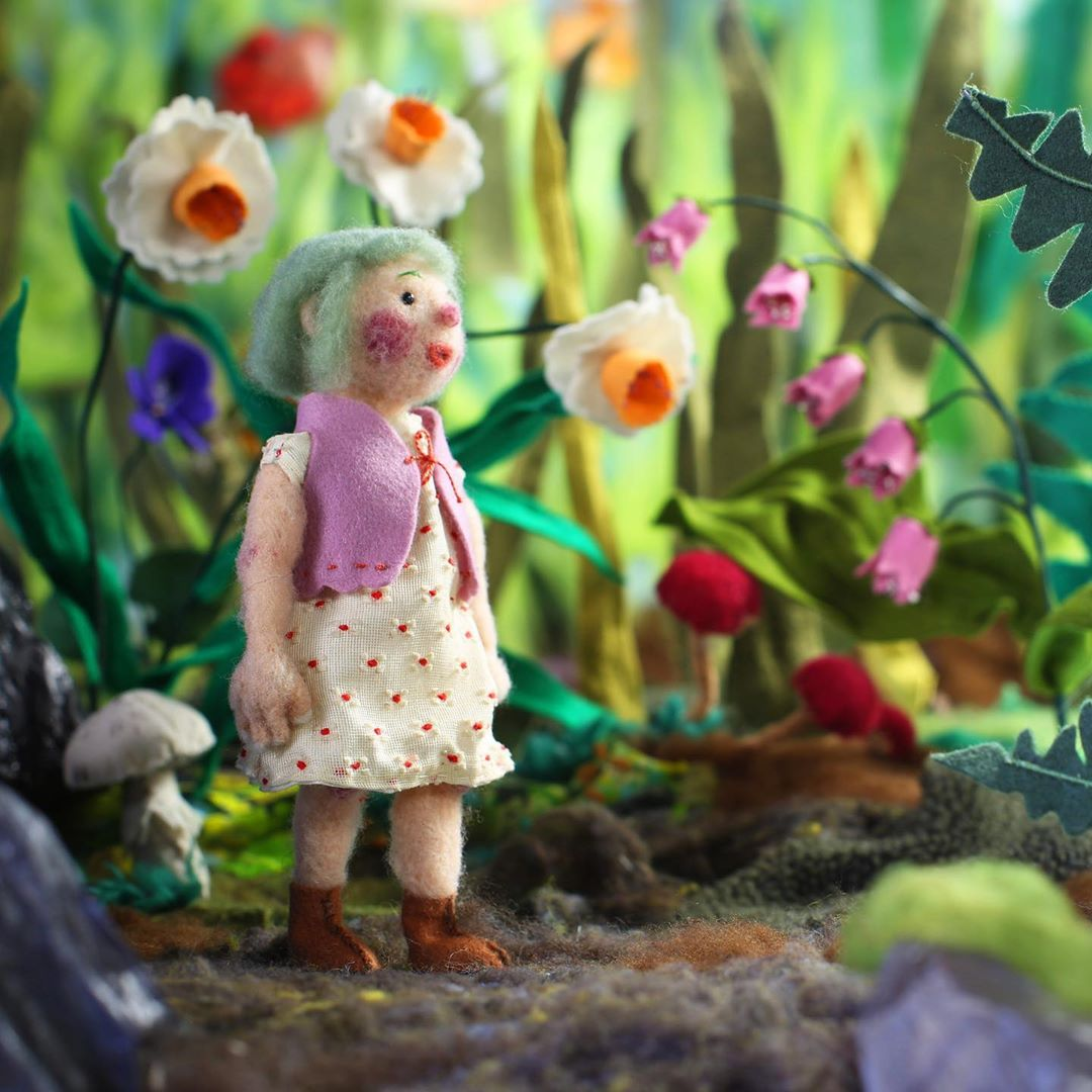 """'Tulip,' a Needle-Felted Animated Short is """"Fresh and Woolly Take"""" on 'Thumbelina'"""