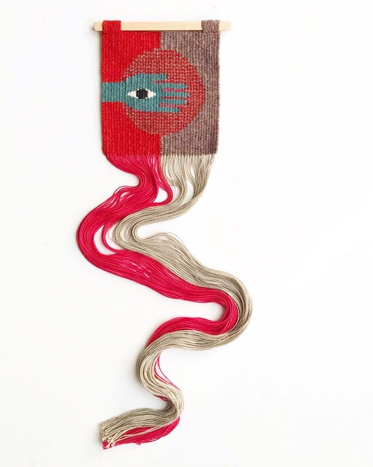 Contemporary weaving by Natalie Novak