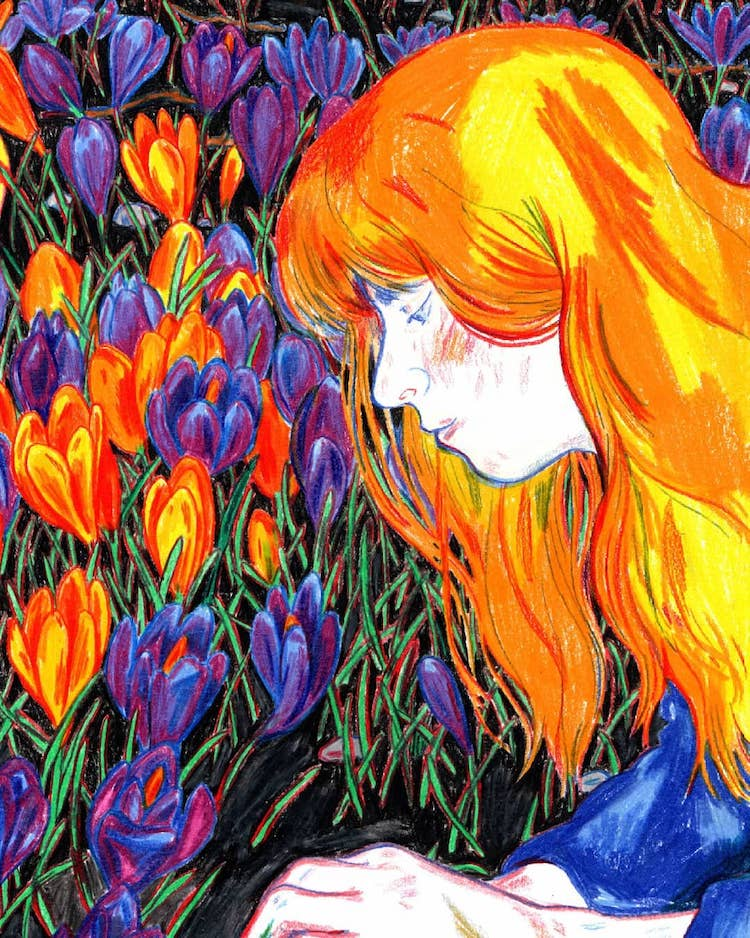 Sumptuous Colored Pencil Illustrations Remind Us to Stop and Smell That Tulip