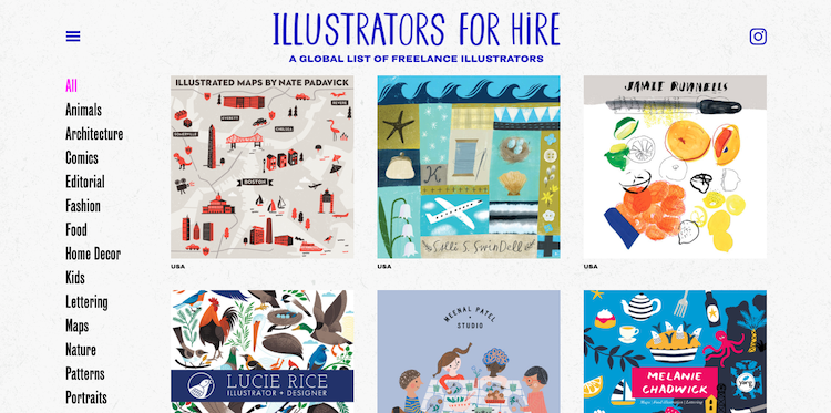 Are You a Freelancer? There's a New 'Illustrators for Hire' Directory to Join