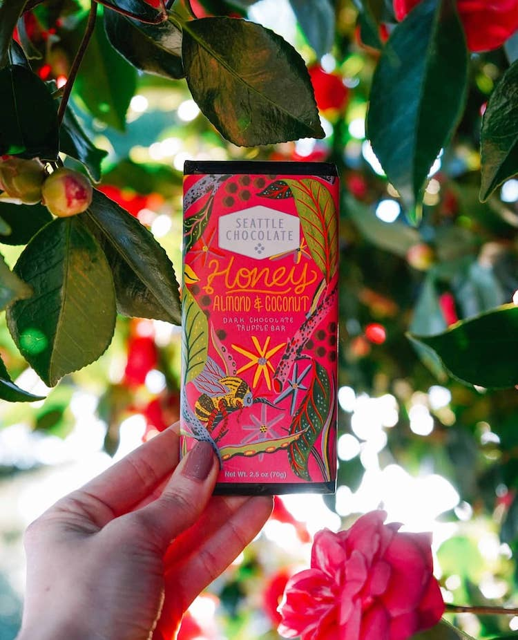 Chocolate bar packaging Seattle Chocolate and Libby VanderPloeg